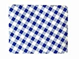 Outdoor Tablecloths, Gingham Tablecloth, Thicker, Last Longer, Stain Resistant for Indoor and Outdoor - Gingham Royal Blue (54 x 72)