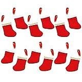 "Festive Christmas Ultra Mini Stockings Party Favour Value Pack, Felt , 3"", Pack of 12"
