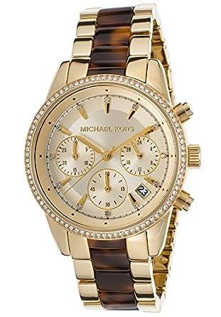 b888bd3eee72e Amazon.com  Michael Kors Women s Ritz Gold-Tone Watch MK6322 ...