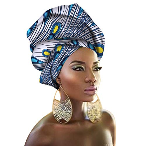 African Traditional Wax Print Head, Ttj22, Size Length: 43 Inches, Width: 35 I from DOLLY DOLLY