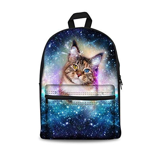 Large Hombro para K Cat 10 al Galaxy 5 Mujer Coloranimal Galaxy Bolso CC3654J Cat XpvqqI