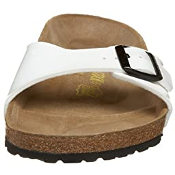 Birkenstock Women\'s Madrid Sandal,Bright White Patent,41 M EU