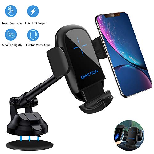 Phone Holder for car, Automatic Clamping Car Phone Mount Air Vent Dashboard Car Holder Compatible with iPhone Xs Max R X 8 Plus 7 Plus 6S Samsung Galaxy S9 S8 Edge S7 S6 LG Sony and More