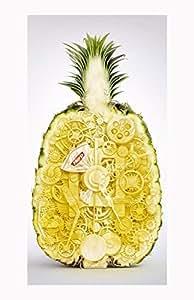Pineapple Clock White Hard Case Cover Skin For Samsung Galaxy S5 I9600Kimberly Kurzendoerfer