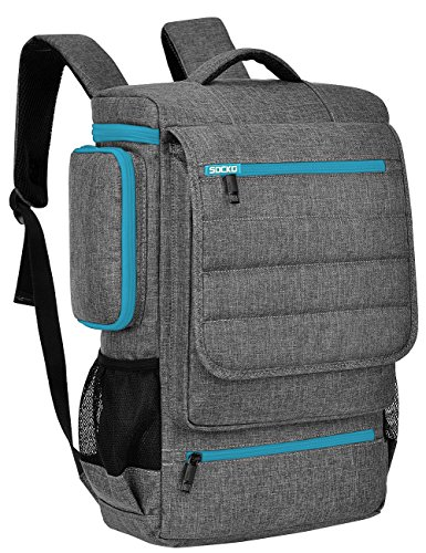 Laptop Backpack,BRINCH Unisex Luggage & Travel Bags Knapsack,Rucksack Backpack Hiking Bags Students School Shoulder Backpacks Fits Up to 17.3 Inch Laptop Macbook Computer,Grey-Blue