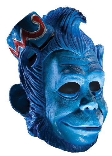 [Wizard Of Oz Deluxe Latex Mask, Flying Monkey, Blue, One Size] (Flying Monkey Costumes Adult)