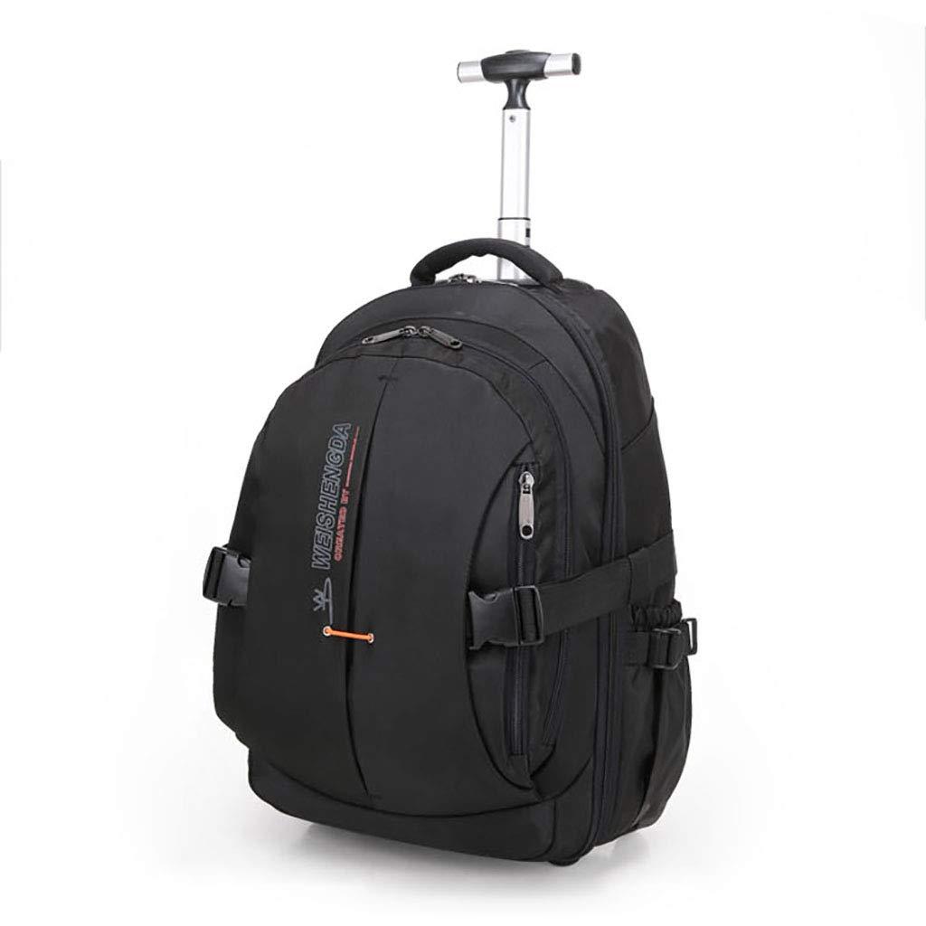 学校のラップトップバッグを旅する少年のためのトロリーバックパック大容量ストレージウィールドローリングバックパック防水旅の荷物 Large  B07NMTB2JZ