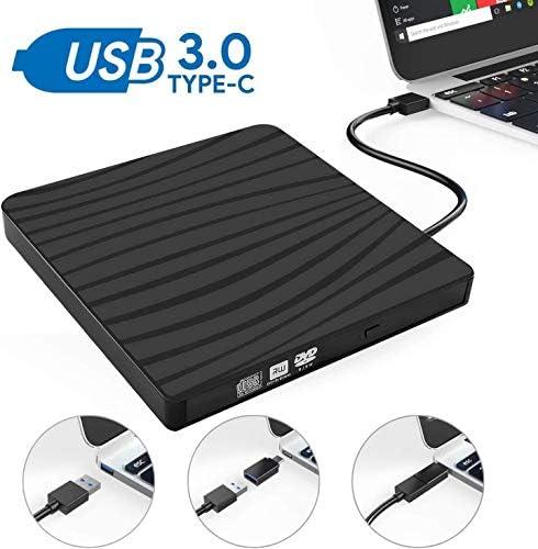 KJRJFD USB 3.0 DVDドライブ、超薄型DVD-RWドライブDVD ROMライタバーナー、ラップトップ、デスクトップ高速データ転送勝利7/8 / 10SS