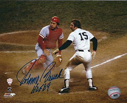 Autographed Johnny Bench 8x10 Cincinnati Reds Photo