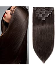 Amazon clip hair extensions extensions wigs 10 inch 70g clip in remy human hair extensions full pmusecretfo Choice Image