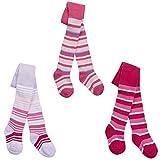 Tick Tock Baby Girls Cotton Rich Design Tights Hot Pink Hearts 6-12 months