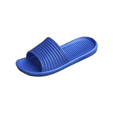 ZODOF Sandalias Mujer,Verano 2019 Zapatillas de baño Hombre a Rayas Zapatillas de Verano Sandalias de Interior y Exterior: Amazon.es: Ropa y accesorios