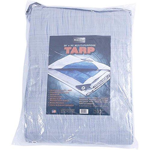 """Maxam 20' x 30' All-Purpose Tarp (Hemmed Size 19'3"""" x 29'6"""")"""