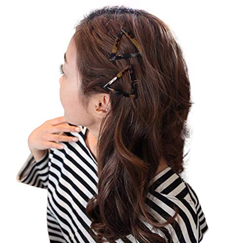 (Geometric triangle hairpin splash ink leopard hair accessories fashion simple ponytail clip slip bangs clip MEEYA)