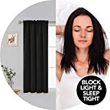 Deconovo Blackout Curtains Rod Pocket Curtains Room Darkening Blackout Curtains 1 Pair 42 Inch