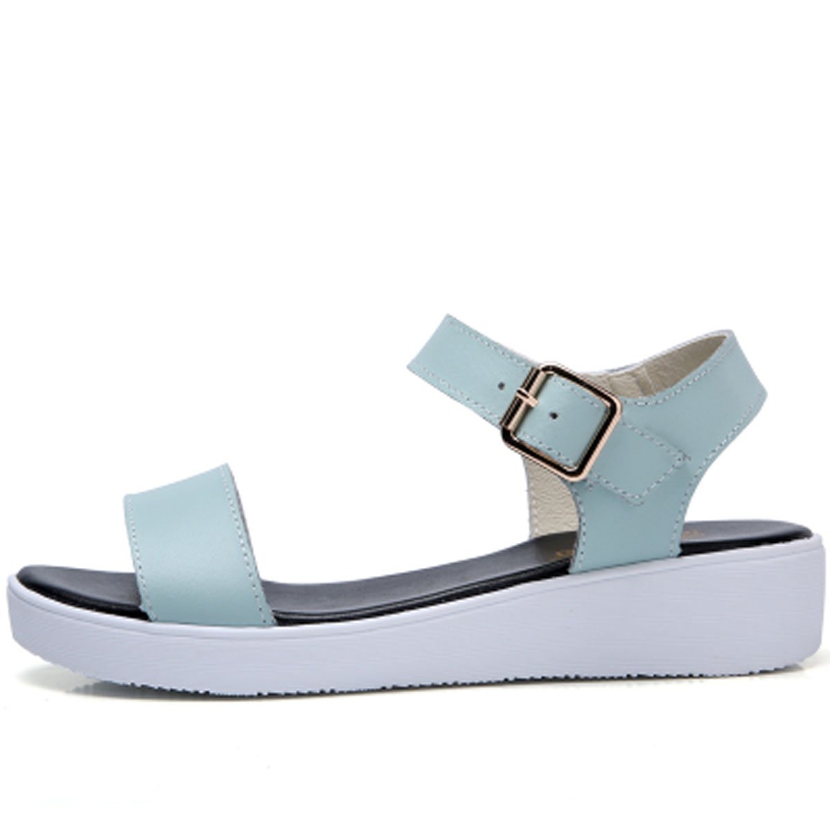 Womens Shoe Comfort Simple Basic Ankle Strap Flat Sandals(5-7.5)