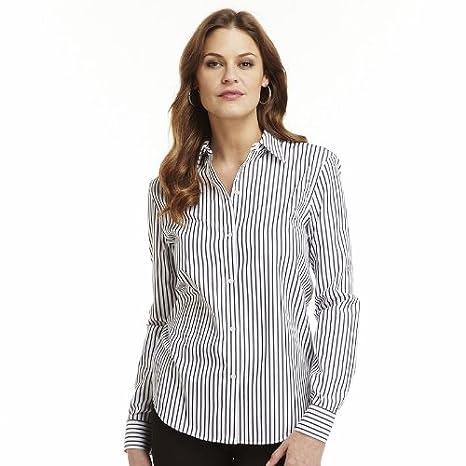 4d9cacdea32 Chaps Women s No Iron Button Front Long Sleeve Shirt