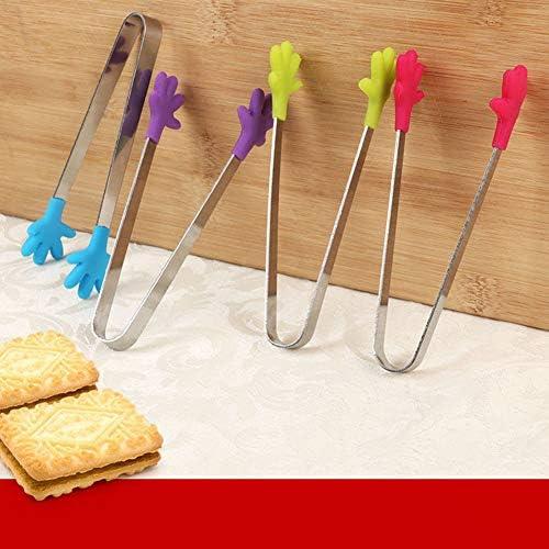 4 STÜCKE Zufällige Farbe Silikon Lebensmittel Zange Kleine Lebensmittel Clip Mini Greifer Handliche Küche Zange Grillzange für Lebensmittel