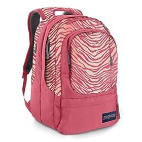 Pink Zebra JanSport Air Cure Backpack