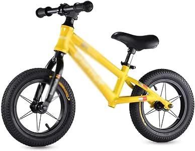 XRXX Andar En Bicicleta De Entrenamiento Altura del Asiento Ajustable Peso Ligero Sin Pedal Bicicleta Caminante Aleación De Aluminio Toddler Balance Bike Yellow: Amazon.es: Hogar