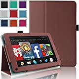 Kindle Fire 1st & 2nd Generation Cover Case - HOTCOOL Slim New PU Leather Case For Amazon Original Kindle Fire 2011 (Previous Generation - 1st) And Kindle Fire 2012 (Previous Generation - 2nd) Tablet(Will not fit HD or HDX models), Brown