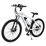 Onway 26 Inch 21 Speed Electric Mountain Bike, 36V 250W Aluminium Alloy E Bike with Pedal Assist and Twist Throttle