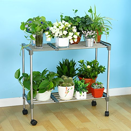 Living Room Flower Racks Plant Shelf, Extension-type, Free Movement, Practical Commodity Shelf, Multi-storey Pots - Storey Studio