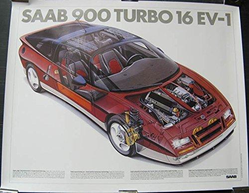 1985 Saab 900 Turbo 16 EV1 Experimental Poster