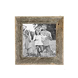 BarnwoodUSA Rustic Farmhouse 1 1/2-Inch Picture Frame - Our 6x6 Picture Frame can be Mounted Horizontally or Vertically and is Crafted From 100% Recycled and Reclaimed Wood | Weathered Gray