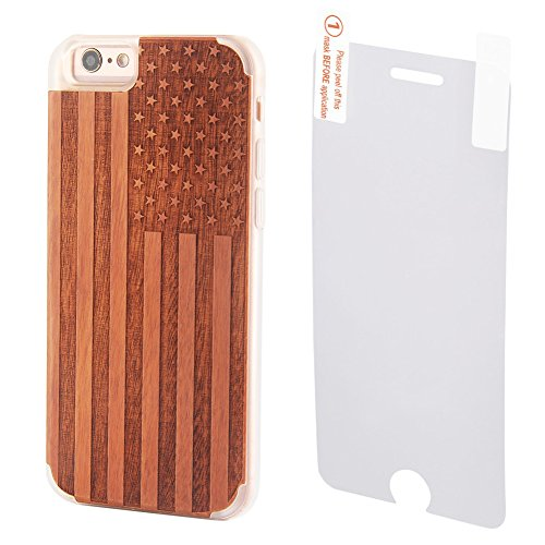 American Natural Engraved Tempered Protector