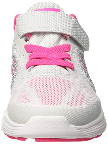 Nike 819417-007, Zapatillas de Running para Niñas Gris (Pure Platinum / Pink Blast / Wolf Grey / White)