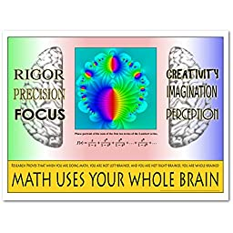 Math Uses Your Whole Brain Poster