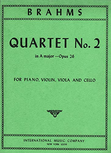 Quartet No. 2 in A major - Opus 26 for Piano, Violin, Viola and Cello