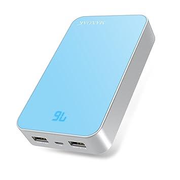 MAXOAK 13000mAh Super capacidad Batería Externa Power Bank con Dual USB 5V 2.1A/1A Cargador Portátil para iPhone,iPad y Samsung Galaxy la mayoría ...