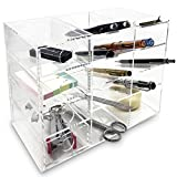 Ikee Design Acrylic 4-Shelf Executive Desk Storage Makeup Organizers with Drawers