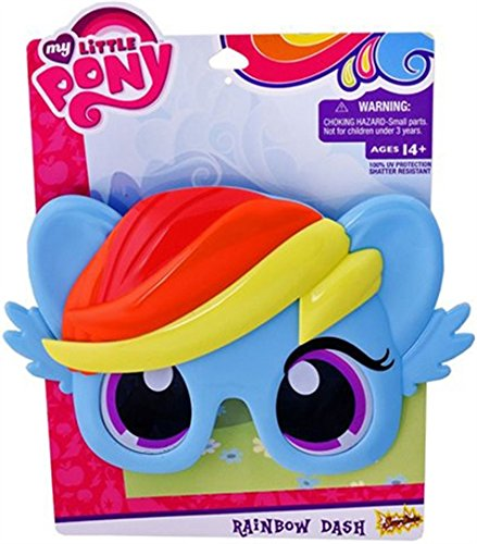 Costume Sunglasses My Little Pony Blue Rainbow Dash Pony Sun-Staches Party Favors UV400