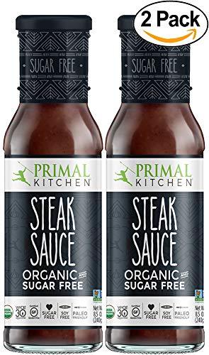 Primal Kitchen's Steak Sauce Organic and Sugar Free, 8 oz, Pack of 2
