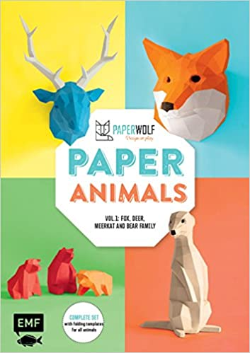 Paper Animals Volume 1 Fox Deer Meerkat And Bear Family