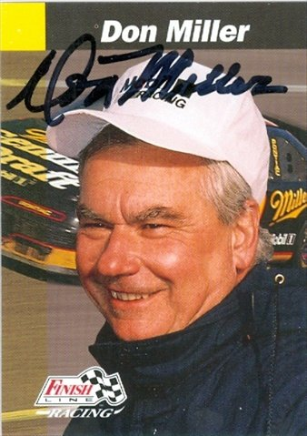 Autograph Warehouse 32988 Don Miller Autographed Trading Card Auto Racing Finish Line No. 24 from Autograph Warehouse