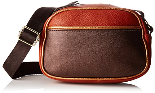 Bensimon - Round Bag, Bolsos bandolera Mujer, Marron (Roux), 6x12x18 cm (W x H L)
