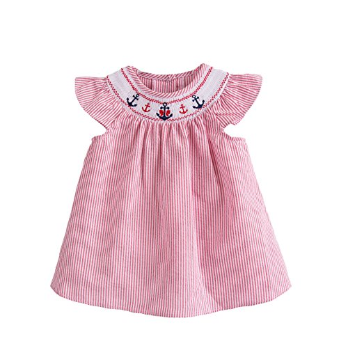 Good Lad Seersucker Smocked Dress product image