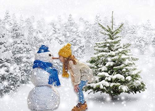 Vacaciones Invierno Frost Bosque Naturaleza Pa/ís de Las Maravillas Tel/ón de Fondo Blanco Nieve /Árbol Puente Fotograf/ía de Fondo y Accesorios de Estudio