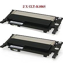 TONER4U® 2PK Black Toner 2CLT-K406S NON-OEM Compatible for Samsung CLP-360,Samsung CLP-365W,Samsung CLP-368W,Samsung CLX-3300,Samsung CLX-3305FW,Samsung CLP-365,Samsung Xpress C410W,Samsung Xpress SL-C460FW,Samsung Xpress SL-C460W CLT-M406S,CLT-C406S,CLT-Y406S,