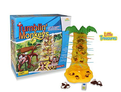 Monkeys tumbling Classical Game of Skills and Action that's Fun to Play. Great gift for girls and boys.