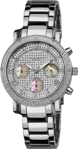 Akribos XXIV Women's AKR440SS Grandiose Dazzling Diamond Chronograph Stainelss Steel Bracelet Watch by Akribos XXIV
