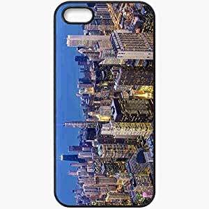 Protective Case Back Cover For iPhone 5 5S Case Chicago Loop Illinois USA Chicago Illinois USA Black