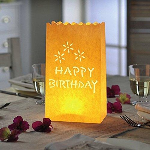 Lichttüte Geburtstag - 10 Stück Deko-Licht-Tüte