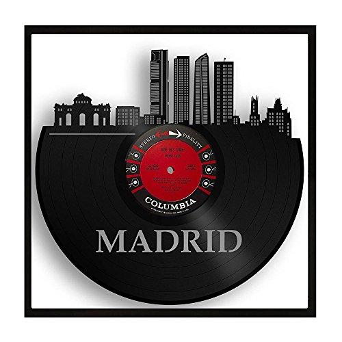 VinylShopUS Madrid Vinyl Wall Art City Skyline Travel Souvenir Framed by VinylShopUS