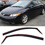 VXMOTOR for 12-15 Honda Civic 2 Door Coupe in-Channel Rain Guard Shield Vent Side Window Visors 2012 2013 2014 2015