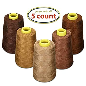 KINGSO 24 Assorted Colors Polyester Sewing Thread Spool 1000 Yards Each BCACS26597